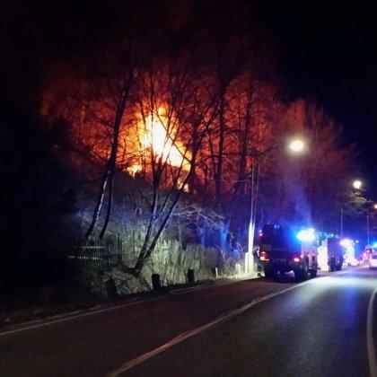 Požár chaty ve Štěchovicích - 25. 1. 2019