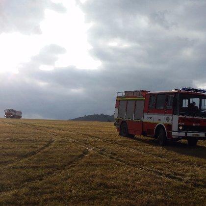 Požár kompostu v Hradištku - 18. 11. 2017