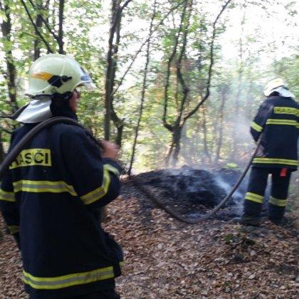 Zásah č. 19/2018 - požár v lese - Hradištko