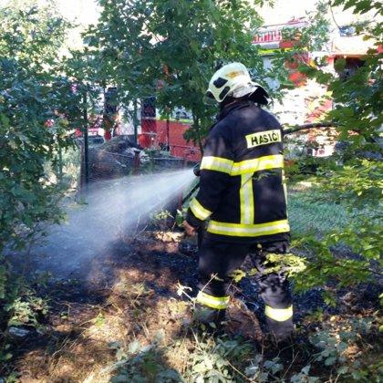 Požár trávy a kompostu - 30. 9. 2018