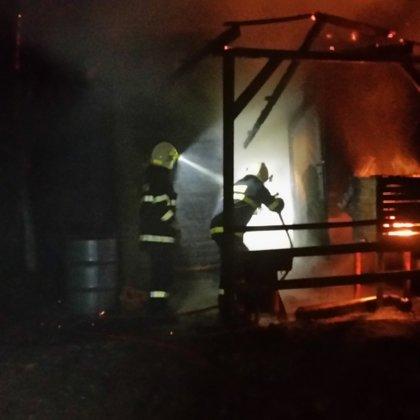 Požár zahradního domku - 5. 4. 2019